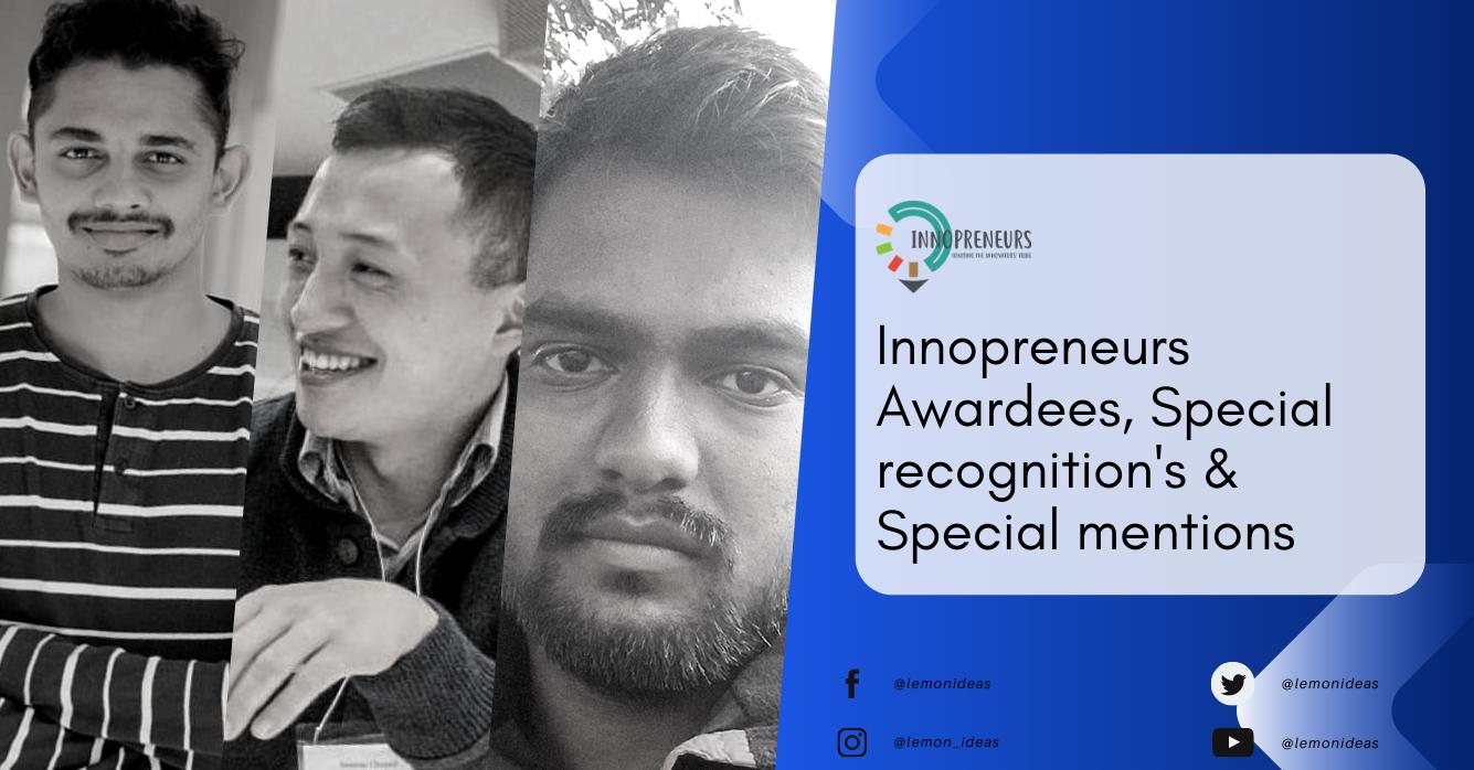 Innoprenurs Starup Awardees